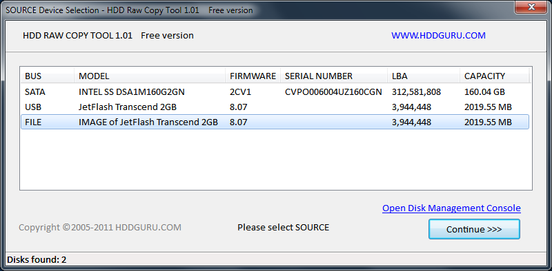 HDD Raw Copy Tool full screenshot